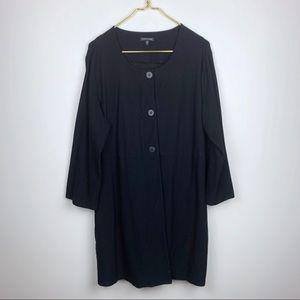 Eileen Fisher Black Stretchy Tunic Jacket